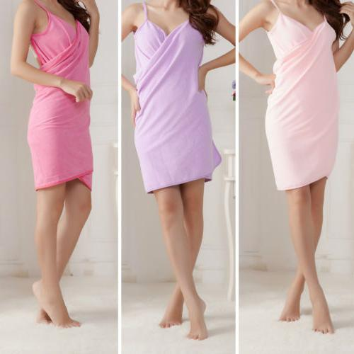 Creative Bath Wearable Towel Dress Girls Women Womens Lady F