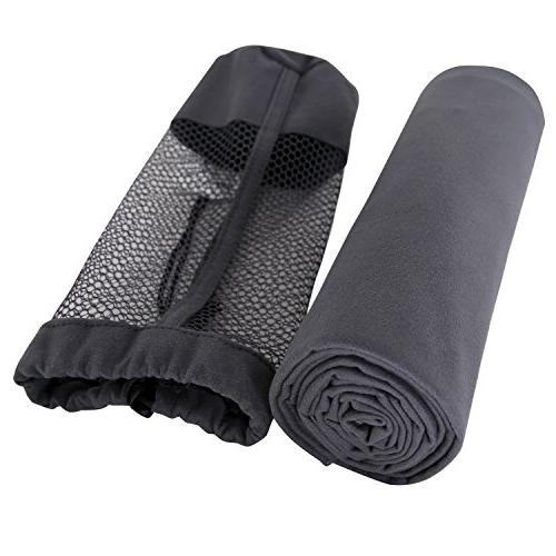 Deconovo Dark Grey Microfiber Travel Towel Ultra Compact Abs