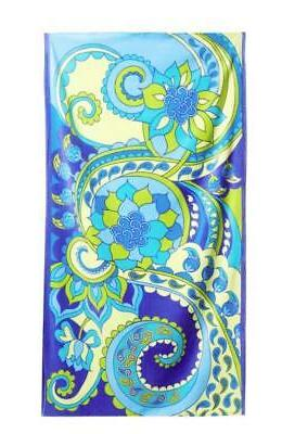 """DOHLER USA Oversized Beach Towel 40"""" x 70"""" BOTEH Paisley Cot"""