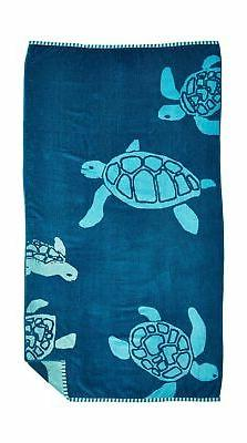 "Northpoint Double Jacquard Premium Beach Towel, 34"" x 63"" Oc"