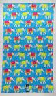 Cynthia Rowley Elephant blue yellow pink pool beach bath tow