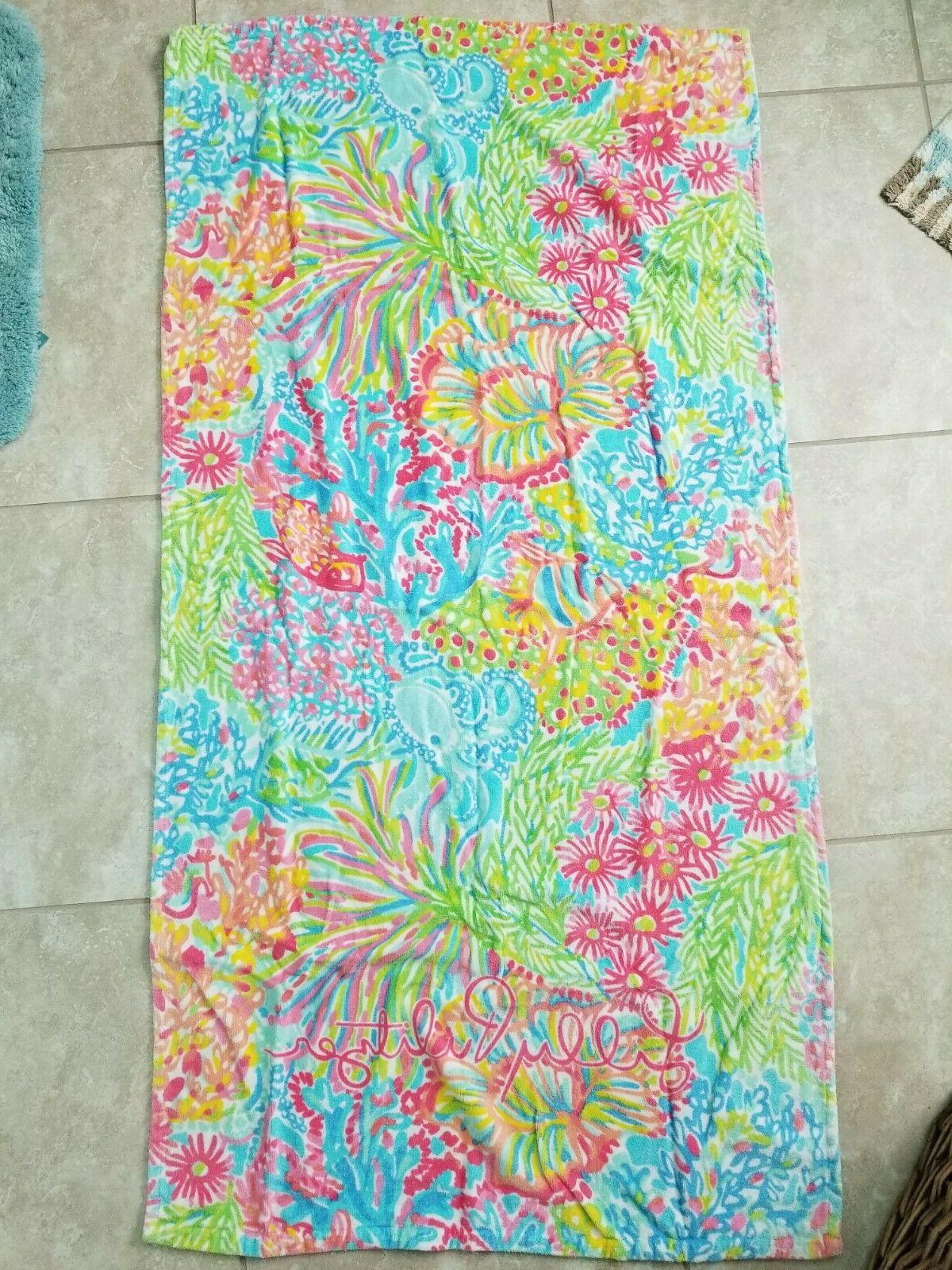 euc beach towel in lovers coral