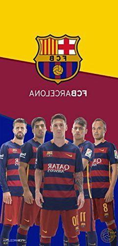FC Barcelona Soccer Team 5Players Beach Towel