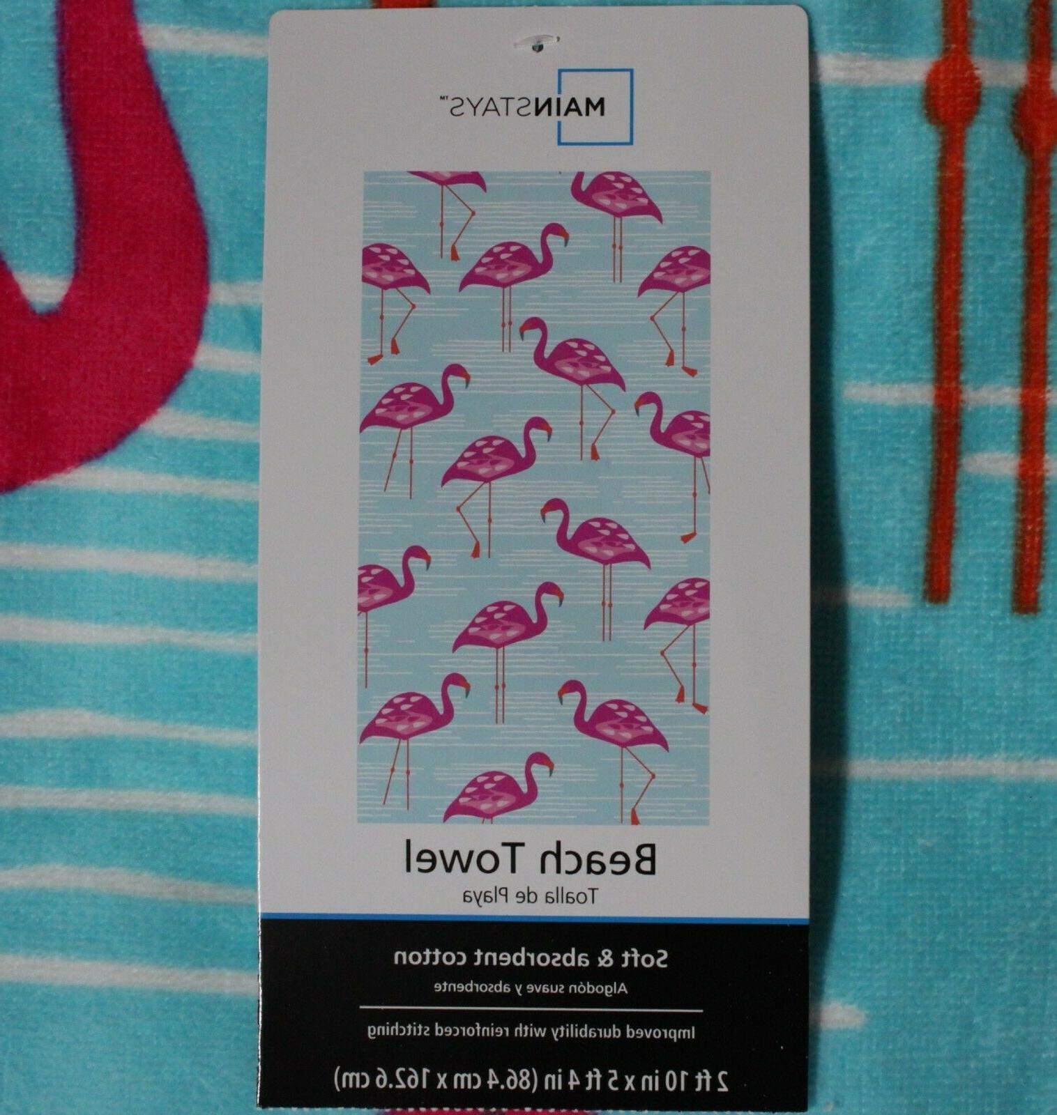 Mainstays Towel 2ft 10in 5ft. 4in NWT, of 2