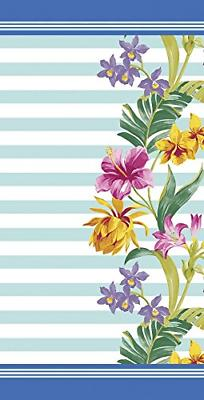 floral and stripes velour brazilian beach towel