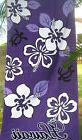 "Hawaiian Hawaii Beach / Pool / Bath Towel 60"" x 32"" ~ PURPLE"