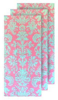 hilasal damask printed soft beach towel pink