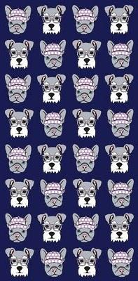 """Hipster Dogs Beach Towel - 30"""" x 60"""" - Velour - Made In Braz"""