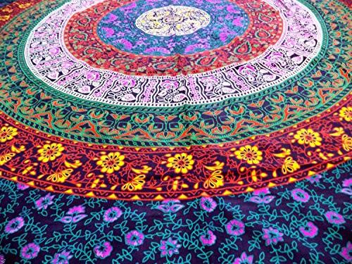 FLY Beach Large Tapestry Purple Retro Hippy Gypsy Colorful Turban Blanket Shawl Beach Yoga 70x58inches