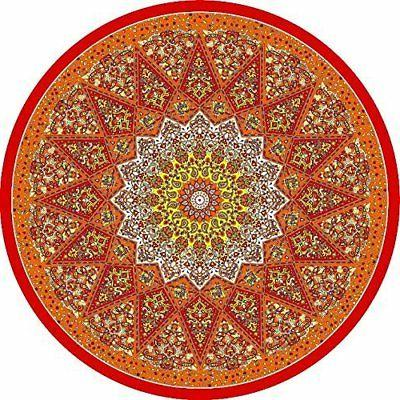 indian round beach towel red os