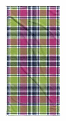 Latitude Run Kabbani Plaid Beach Towel