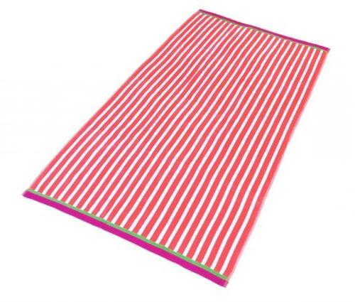 KAUFMAN Stripe Pool Towel 4-Pack - 32in x 62in