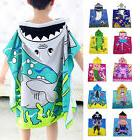 Kids Children Hooded Poncho Swim Beach Bath Towel Wear Bathr