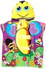 Kids Hooded Beach Towel,Bath Towel BumbleBee with Ponchu Hoo