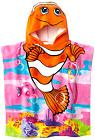 Kids Hooded Beach Towel,Bath Towel Clownfish with Ponchu Hoo