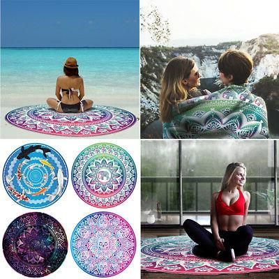 large round beach towel picnic blanket tapestry
