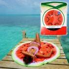 """Large Watermelon Round Beach Towel 58"""" 3D Fruit Funny Soft S"""