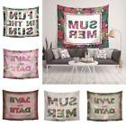 Letters Flower Plant Wall Tapestry Beach Towel Picnic Blanke