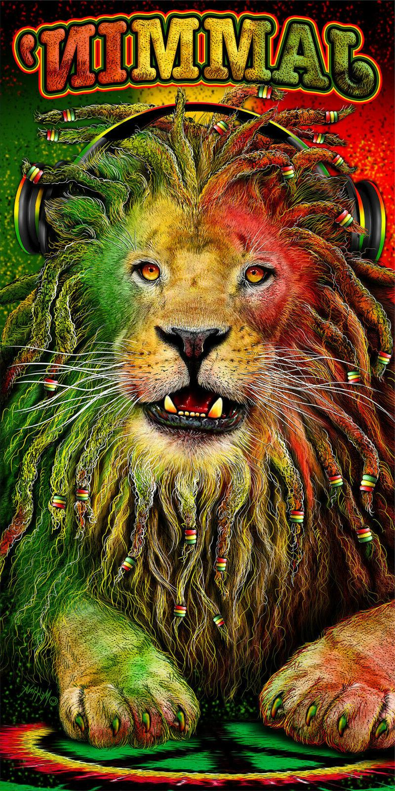 lion rasta jammin beach bath towel 30