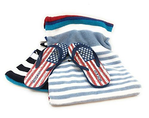 mainstay red white blue striped