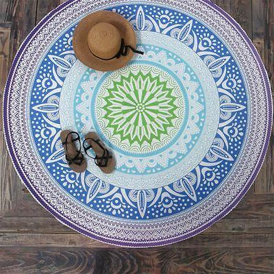 Tapestry Boho Round Indian Hippie Picnic Mats