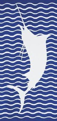 Marlin Velour Brazilian Beach Towel 30x60 Inches