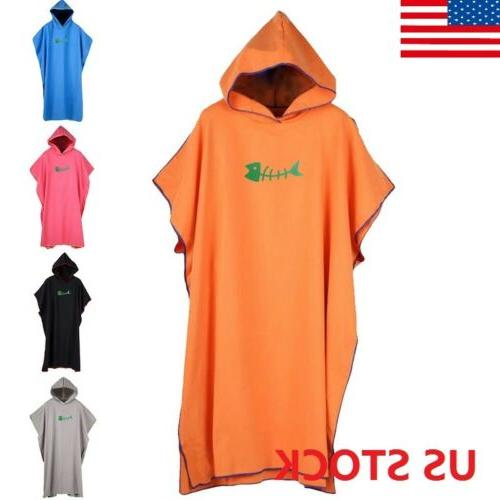 Adult Men Loose Cosy Robe Towels Bath Hooded Beach Towel Pon