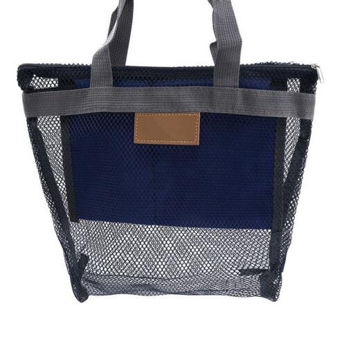 Mesh Beach Bag For Grocery Picnics And Camping Beach Toys An