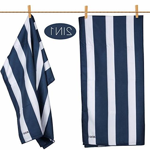 BOGI Microfiber Towel with FREE Dry Lightweight -Perfect for Bath Swimming- Pouch+Carabiner