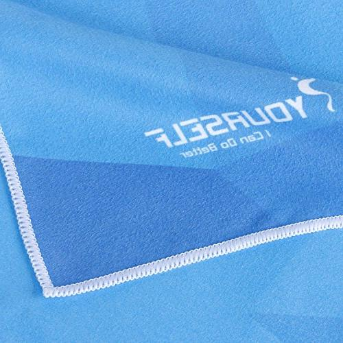 """SYOURSELF Microfiber - 35""""- Lightweight, Absorbent, Fast Dry, Towels/Blanket/Mat- for Swim, Yoga+Travel"""
