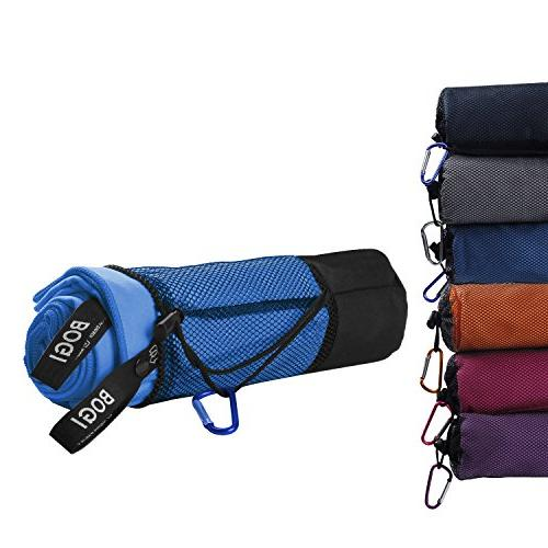 BOGI Towel--Antibacterial Dry Lightweight Compact-For Camping Gym Yoga Backpacking Fitness+Gift