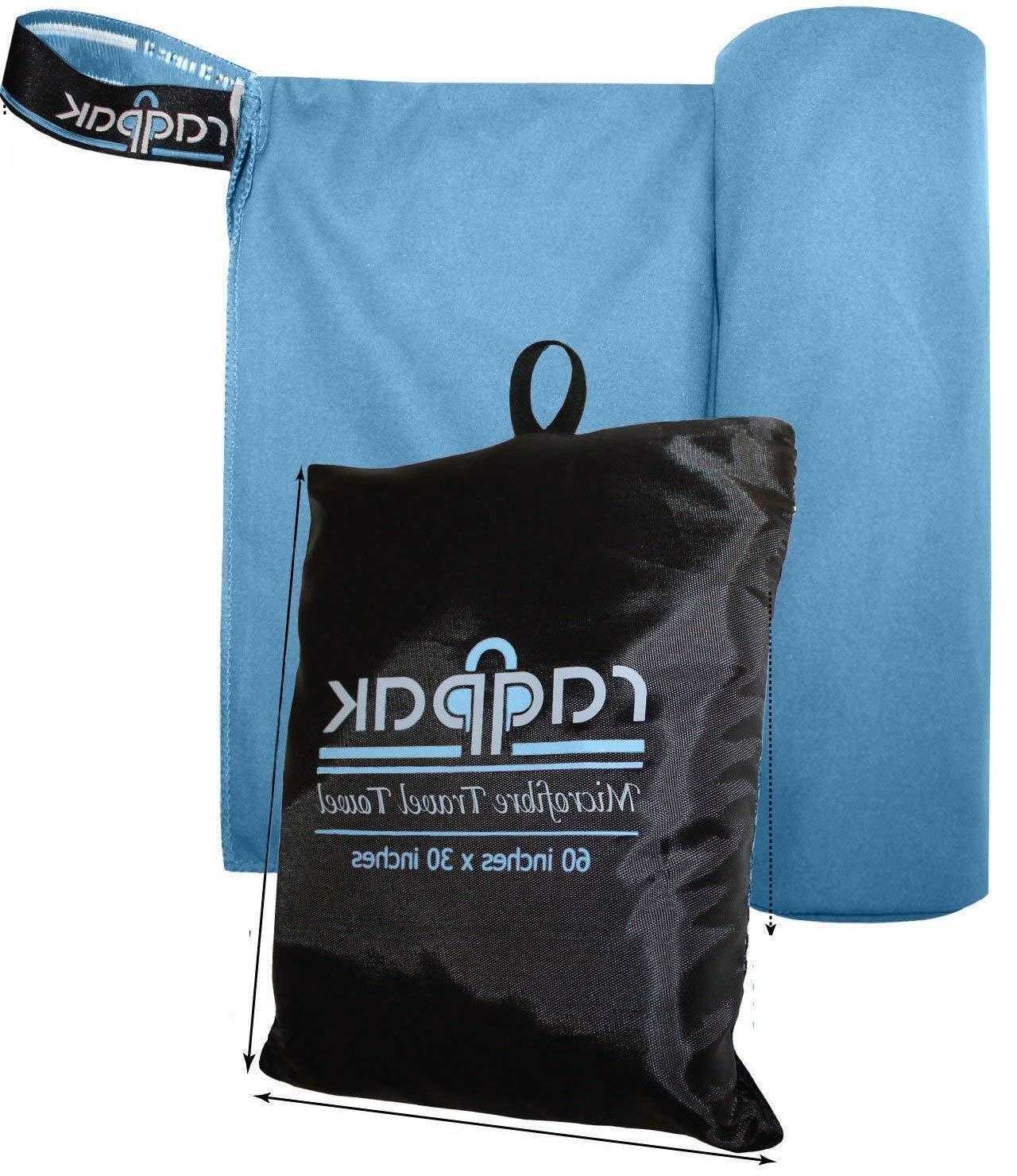 Raqpak Microfiber Towel for Travel, Gym, Camping - Small and