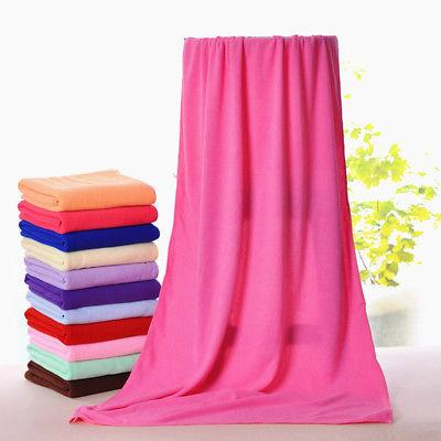 Microfiber Big Quick-Dry Bath Towel Beach Swim Travel