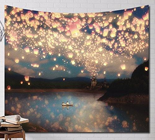 multi scene wall hanging tapestry