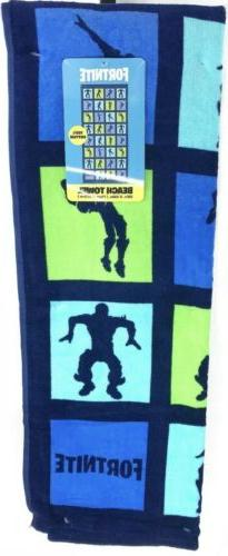 NEW Fortnite Beach 28 in. x 58 in. 100% Towel