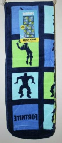 NEW Fortnite Beach Towel 28 in. x 58 in. 100% Cotton Pool To