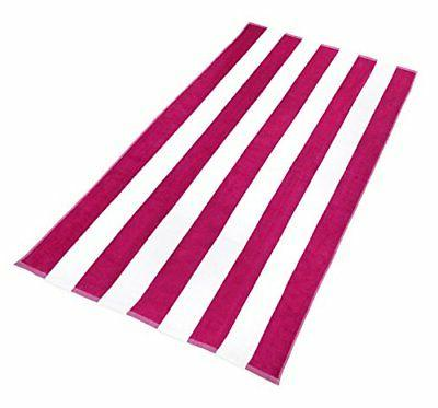 NEW - Cotton Velour Beach & Pool Towel 4-Pack - x 60in