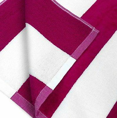 NEW 100% Cotton & Pool Towel 4-Pack - 30in x