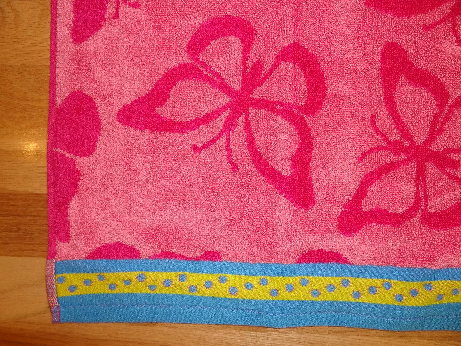 New Youth x Towel Pink Butterfly Design Soft