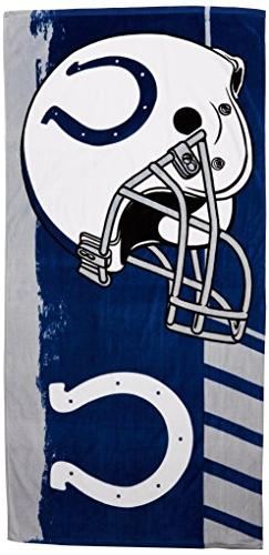"""NFL Indianapolis Colts Game Plan Beach Towel, 34"""" x 70"""""""