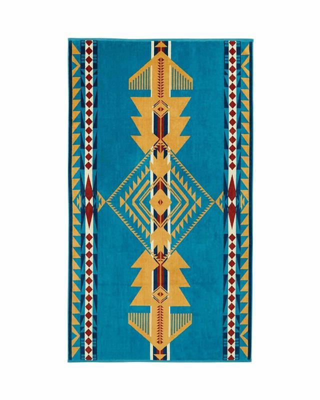 over sized cotton beach towel eagle gift