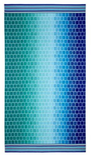 Cotton - Pack Jacquard Double Towel 39x68 Blue Teal - absorbent - per square meter 100% Pure Ringspun