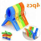 Pack of 4 Pcs Large Plastic Beach Towel Pegs Clips to Sunbed