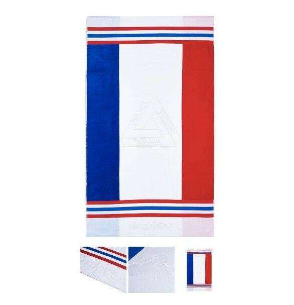 PALACE ADIDAS SPRING2018 BEACH TOWEL WHITE/RED/BLUE FRANCE I