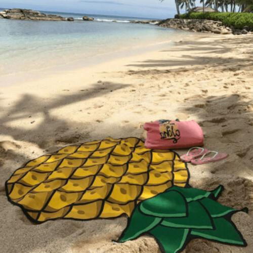 Pineapple Beach Towel Tapestry Mat Throw Beach Pool Swimming