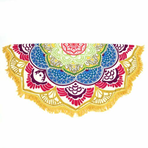Round Large Bohemian Mandala Tapestry Travel Home WF
