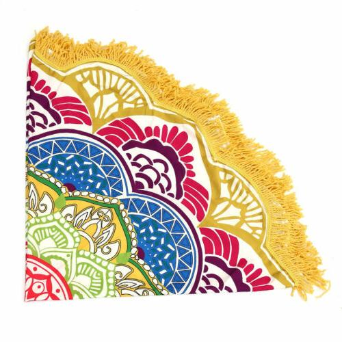 Round Large Mat Bohemian Travel Home Yoga Mat WF