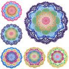 Round Beach Towel Yoga Mat Blanket Table Soft Thick Terry Wi