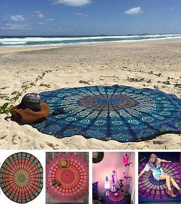 Round Tapestry Beach Towel Yoga Mat Throw Tablecloth