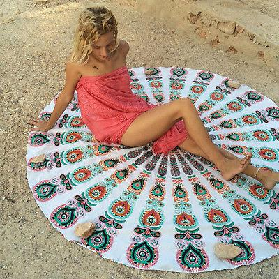 Round Tapestry Yoga Mat Mandala Tablecloth Home Blanket
